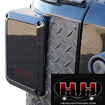 JEEP WRANGLER JK LED TAIL LIGHTS MIDNIGHT SERIES(SMOKE)  *DOT approved