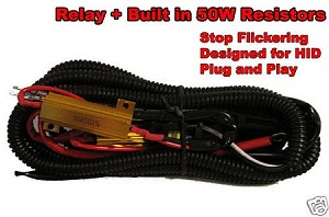 Relay Wiring Harness with Resistor
